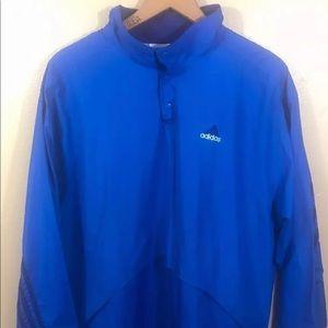 Men's XL Blue Adidas Jacket Windbreaker 3 Stripe